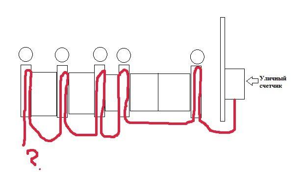 Упрощенная схема проводки