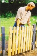 Установка деревянной калитки