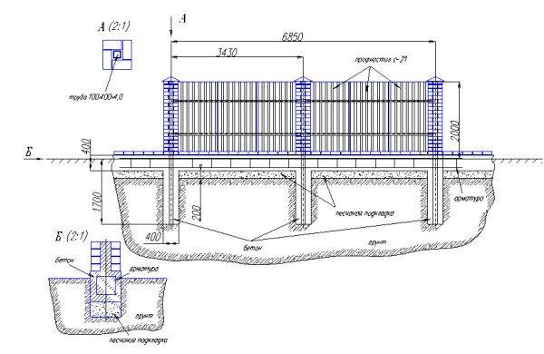 Вариант проекта с указанием собственных размеров под данную конструкцию