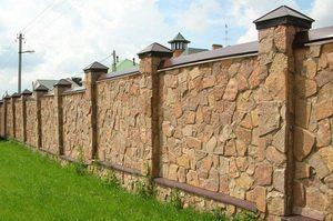 Забор из булыжника