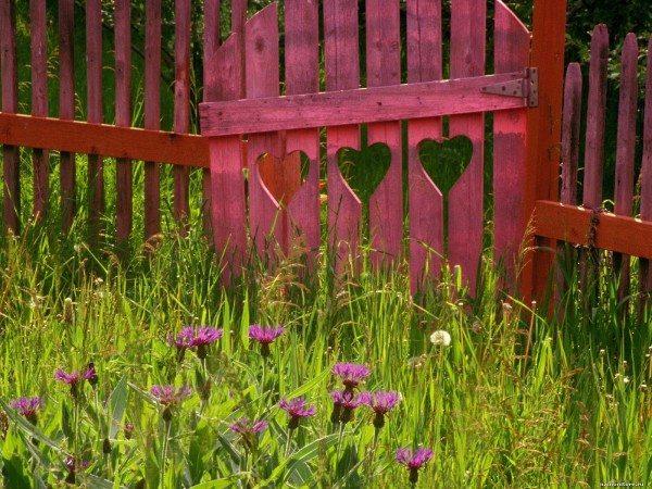 Забор как поле для творчества.