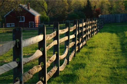 Забор ранчо – американский вариант