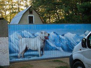 Забор с рисунком.