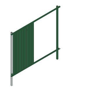 Забор состоит из отдельных модулей, которые собирают подобно конструктору.