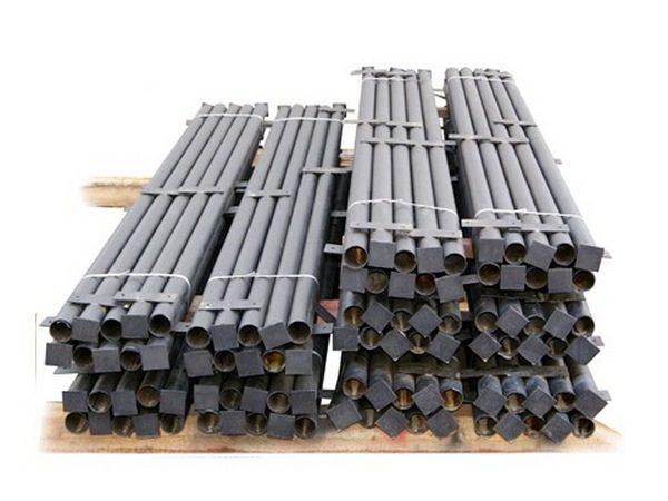 Заборные опоры из металлических труб