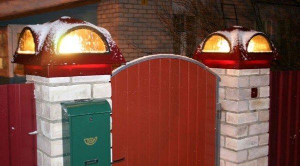 Заборные зонты с вмонтированными осветительными приборами