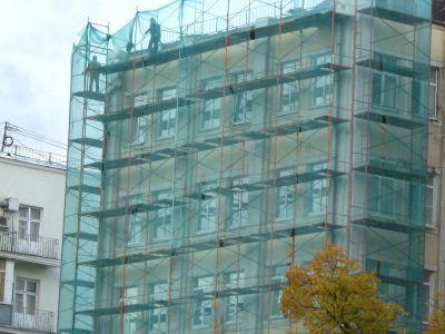 Защитная сетка для фасадных работ