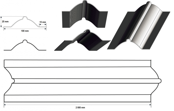 Железный штакетник для забора, V-образный прокат