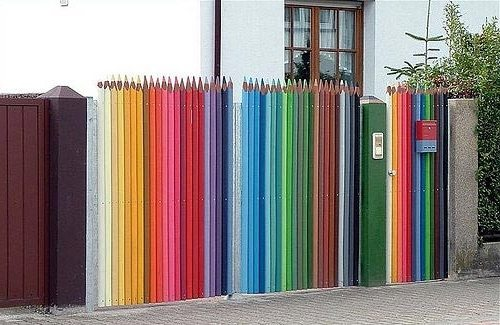 Забор-карандаши своими руками