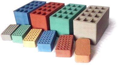 Декоративный шлакоблок для заборов цветной, разного размера