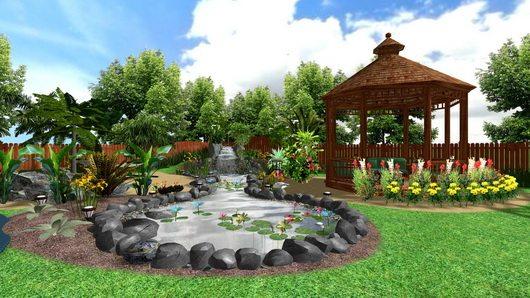 Дизайн ландшафта в усадьбе загородного дома