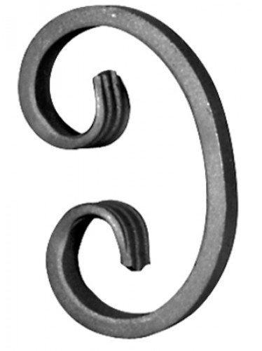 Фигурные кованые элементы, приваренные к каркасу по бокам, придадут конструкции изысканный внешний вид.
