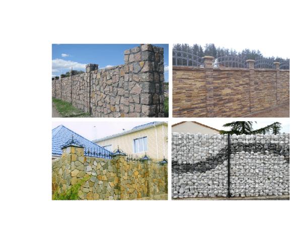 Фото – Ограждения для палисадников из природного камня