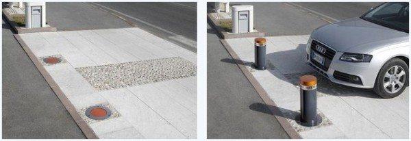 Фото выдвижной парковочной системы.