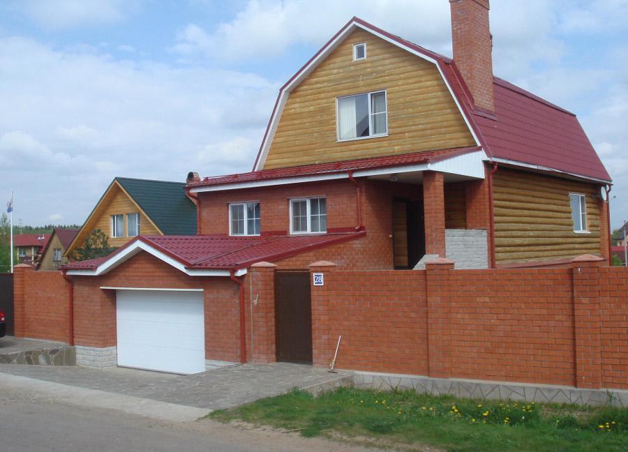 Забор для участка из профнастила чкаловск