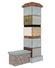 Каменная конструкция, используемая в виде декоративного ограждения.