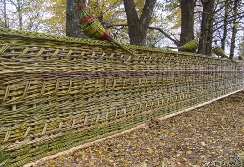 плетеный забор инструкция по
