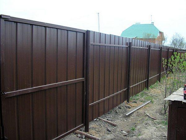 Ограда из двустороннего материала