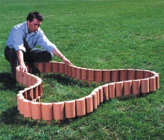 Оригинальная грядка, с помощью садового конструктора