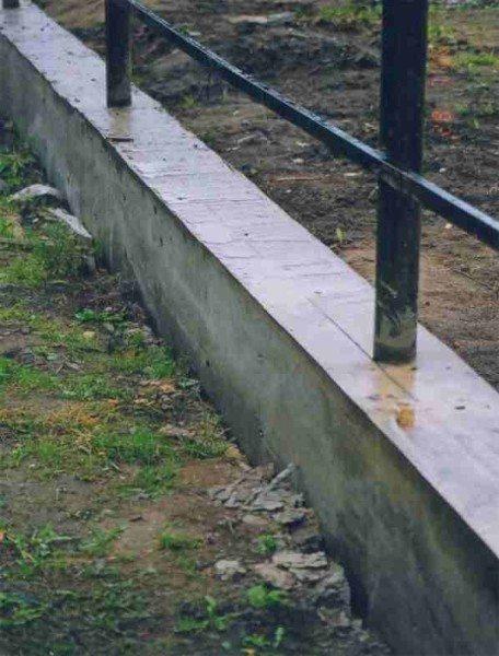 Фундамент под забор фото
