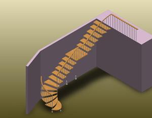 Переход винтового участка в маршевый в комбинированной конструкции.