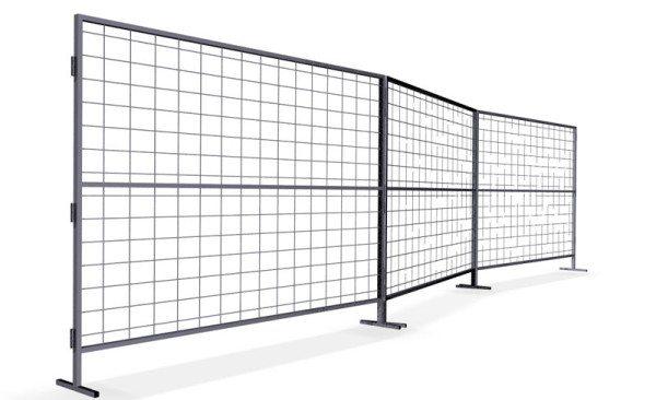 Переносной секционный забор