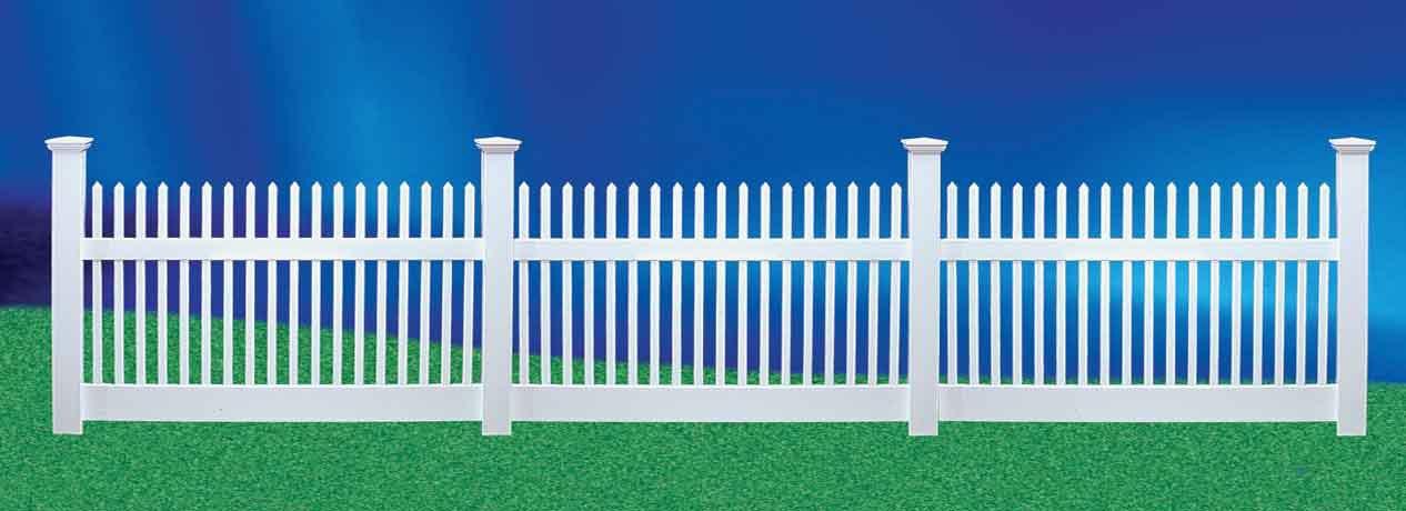 Декоративный забор из штакетника своими руками 7
