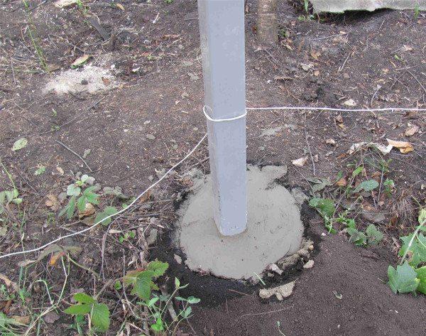 После заливки бетоном