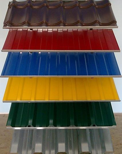 Профнастил разного цвета и структуры