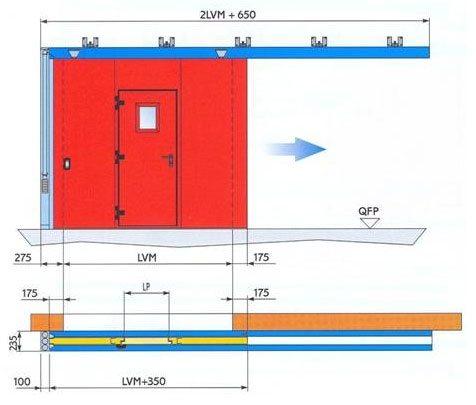 Схема размещения всех элементов с указанием основных размеров