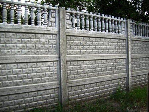 Современное ограждение из бетона