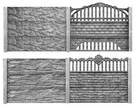 Сплошные и декоративные панели из литого цемента