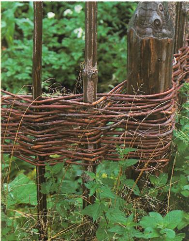 Стилизация под старый деревенский плетень