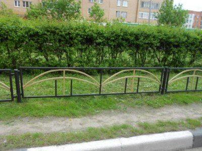 Сварное газонное ограждение