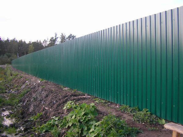 Такой забор очень тяжело форсировать без приставных лестниц с обеих сторон