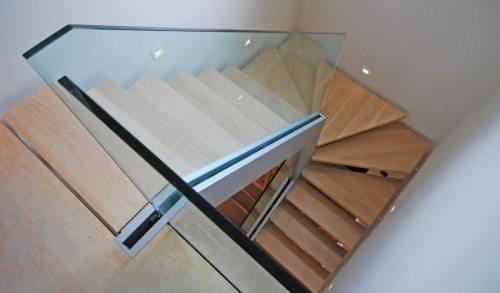 Цельностеклянные ограждения – фото лестницы