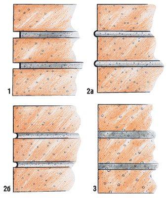 Варианты расшивки швов в кладке