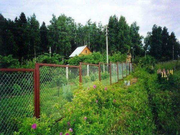 Забор секционный из металлической сетки