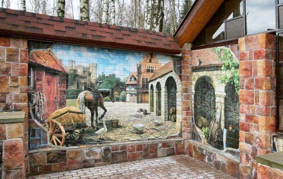 Заборная живопись - оригинально